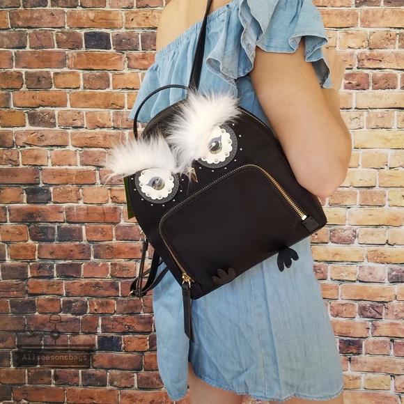 73dbaf1fd8e kate spade Bags   Owl Tomi Backpack Black Star Bright Bag   Poshmark